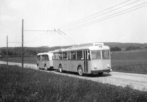 1951, premier convoi sur la ligne 20
